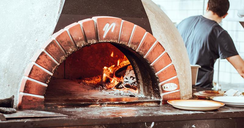 wood fired brick oven pizza