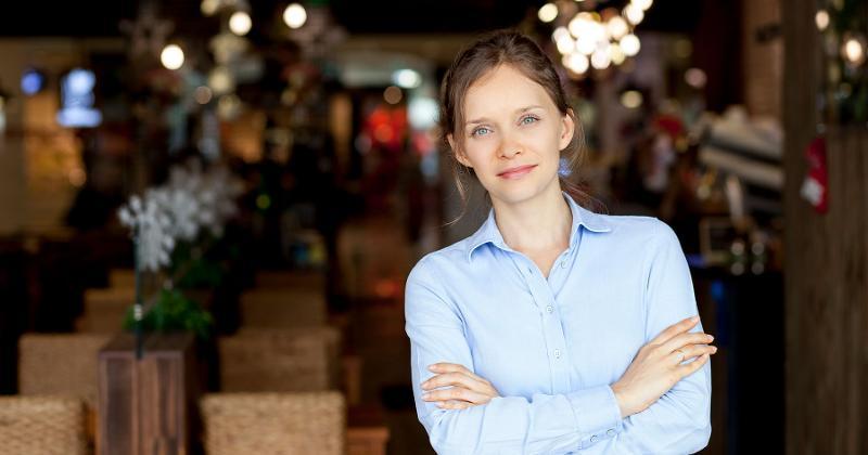 female restaurant manager