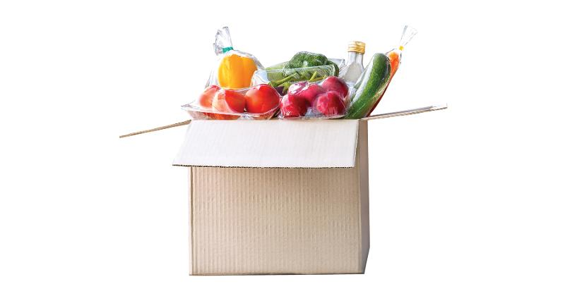 box of groceries
