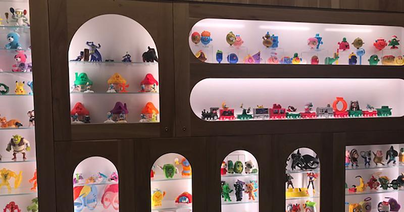 mcdonalds happy meal toy wall