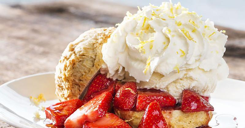 California Pizza Kitchen strawberry shortcake