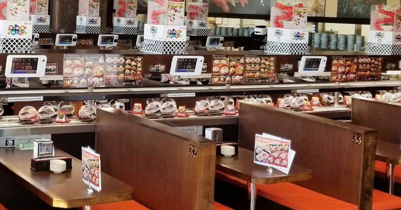 Kura Revolving Sushi Bar interior