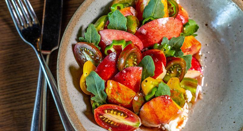 Stone Fruit and Heirloom Tomato Salad
