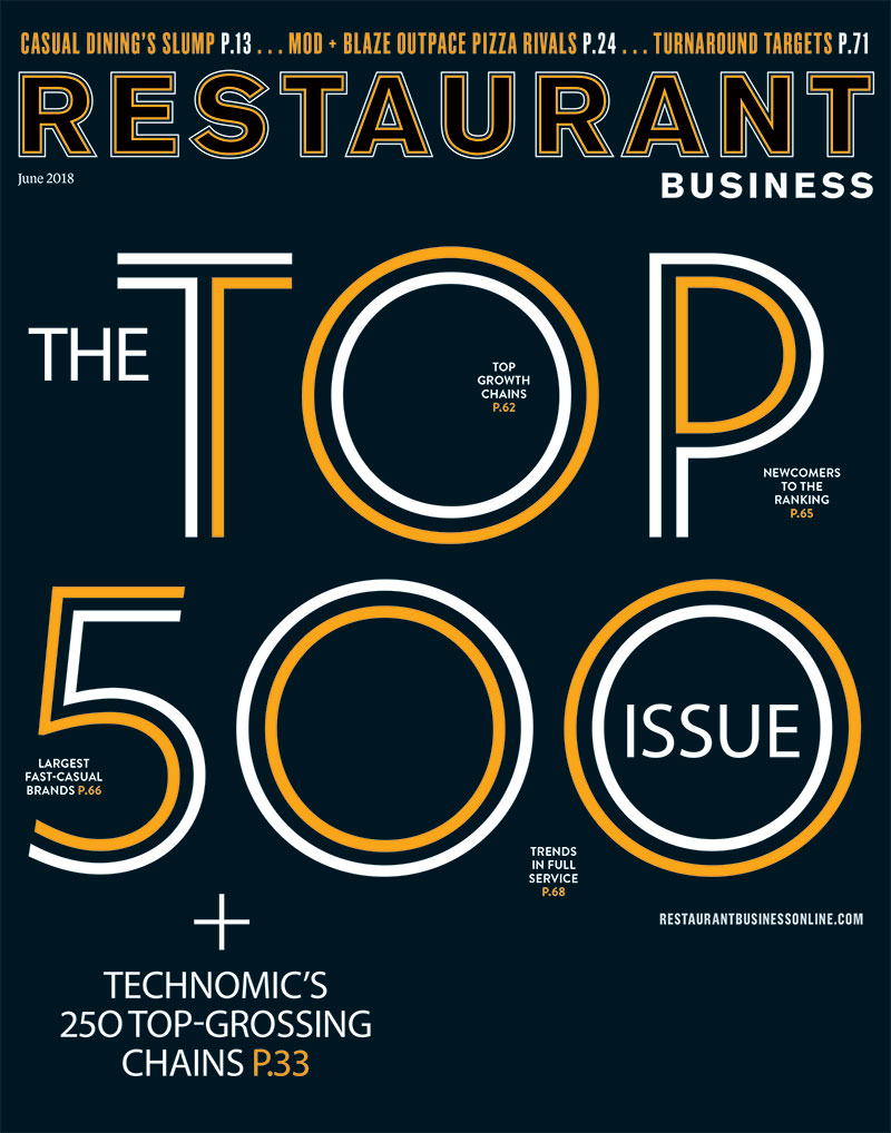 Restaurant Business Magazine June 2018 Issue