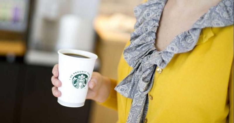 starbucks cup woman