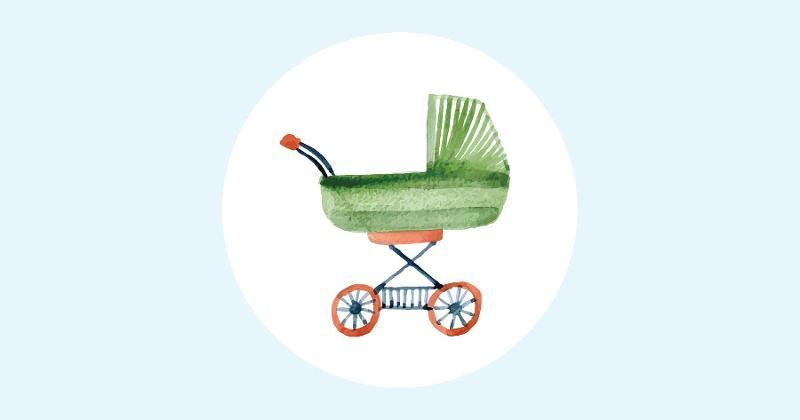 baby carriage illustration