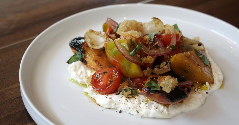 Grilled Stone Fruit and Burrata