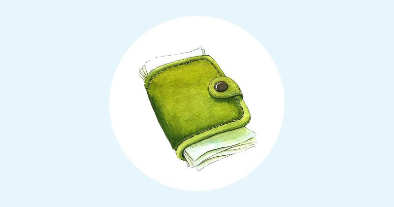 wallet illustration