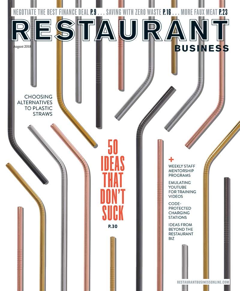 Restaurant Business Magazine August 2018 Issue