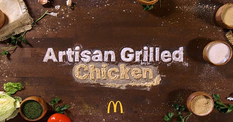 McDonald's artisan grilled chicken