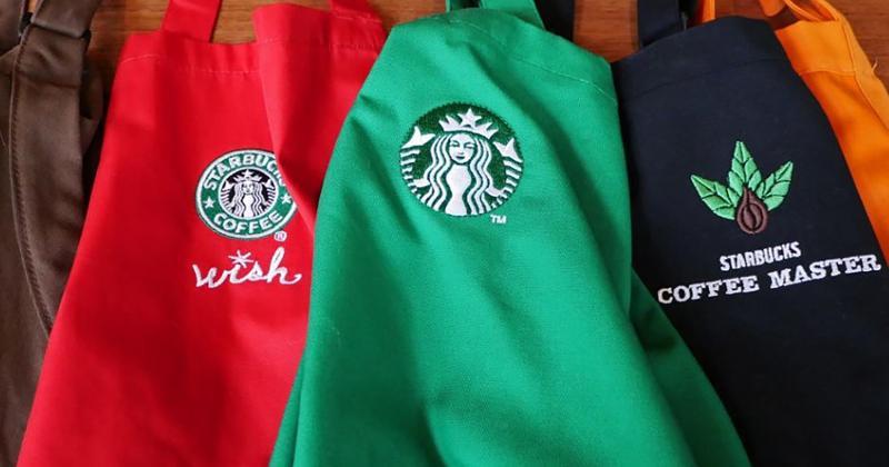 Starbucks aprons