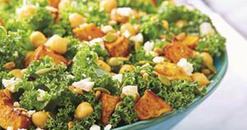 butternut kale salad