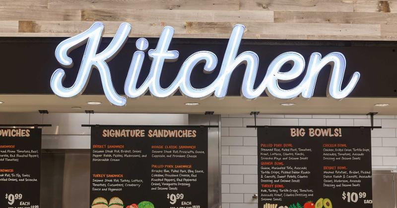 lazy acres kitchen sign