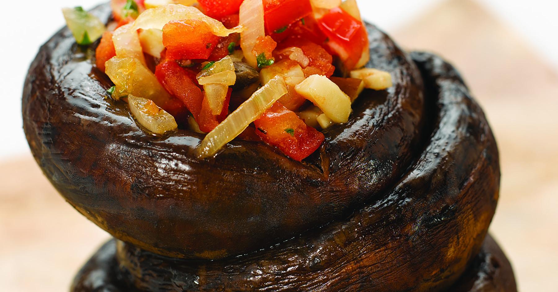 Sauteed Mushroom and Onion Salsa in Caps