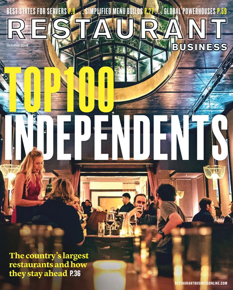 Restaurant Business Magazine October 2018 Issue