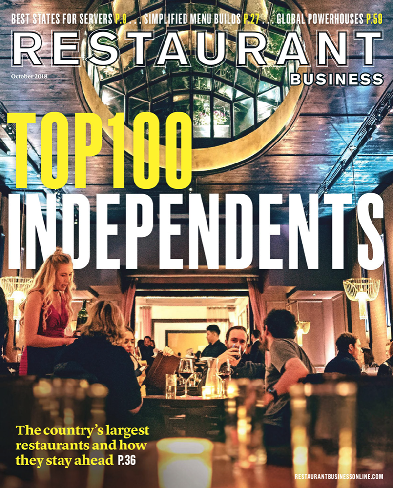 Restaurant Business Magazine October 2018 Issue