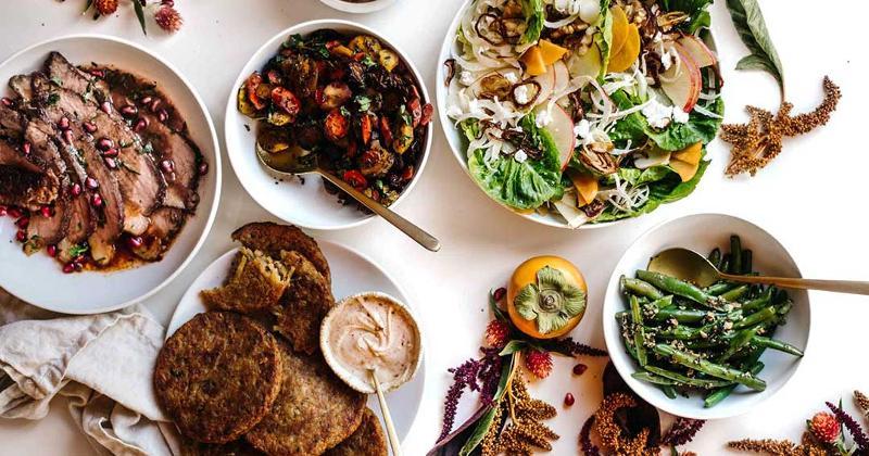 Whole Foods Hanukkah food spread