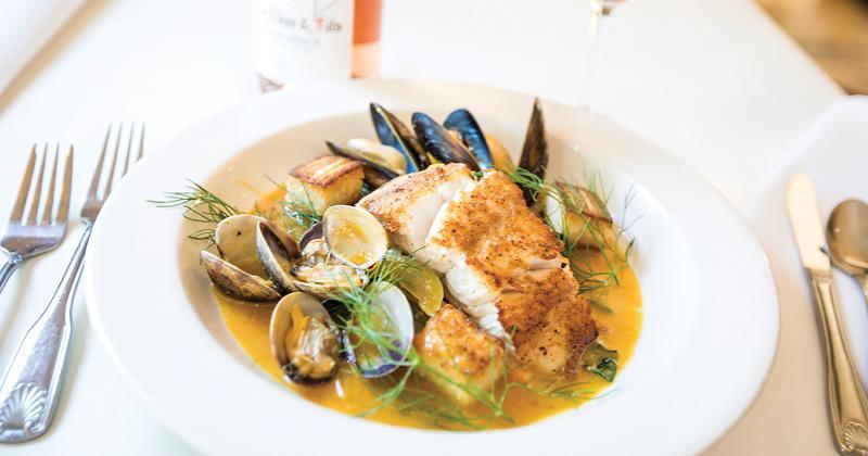 seafood plate shot