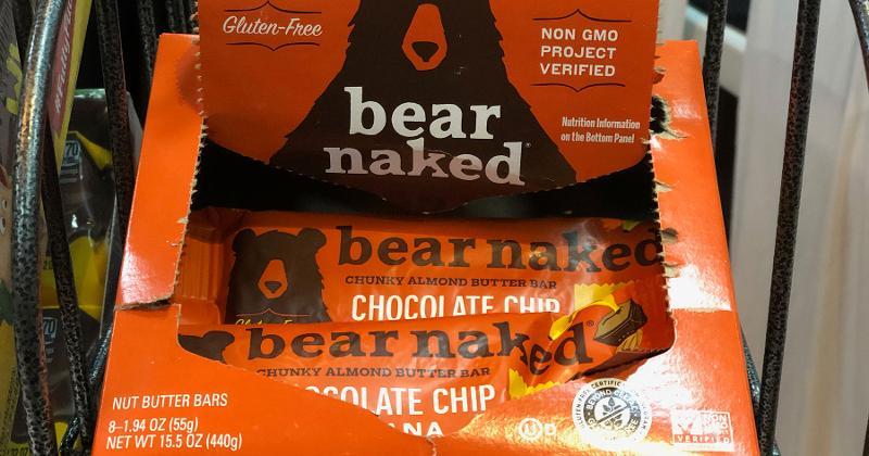 bear naked chunky almond butter bars