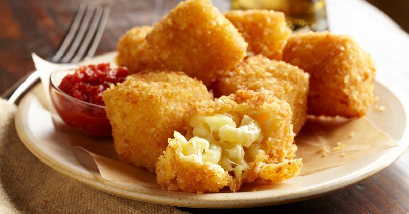 Potato Chip-Crusted Macaroni and Cheese Bites