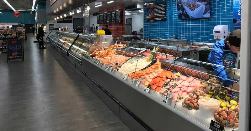 Hy-Vee seafood counter