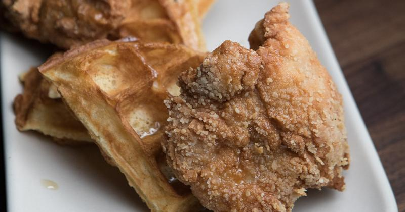 almond-crusted-chicken-and-waffles