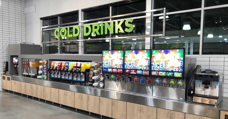 cold drinks wall hy-vee