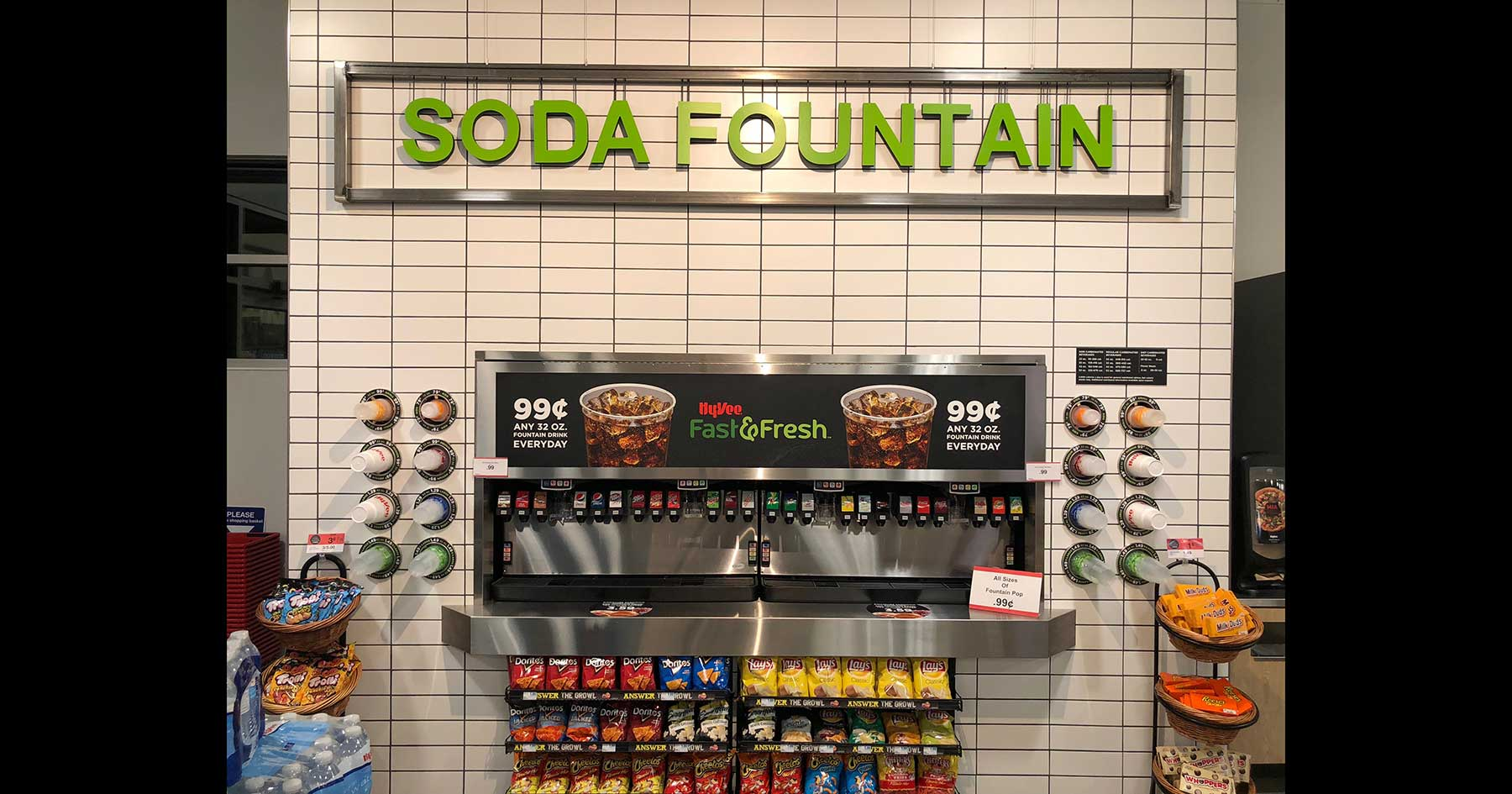 soda wall hy-vee