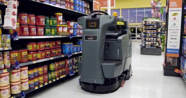 walmart employing robotic floor cleaners