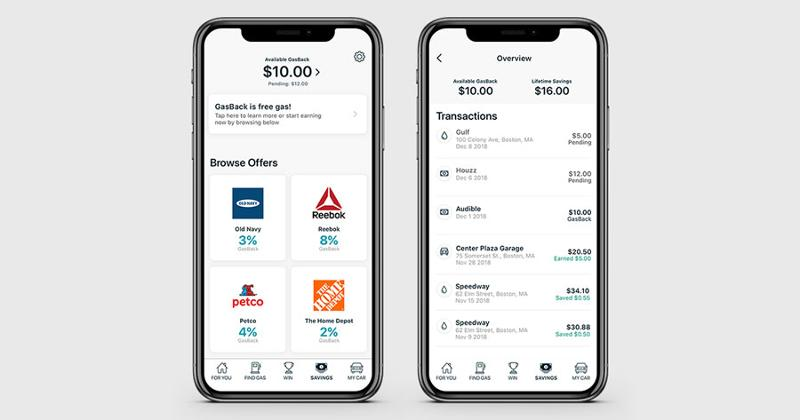 gasbuddy savings feature