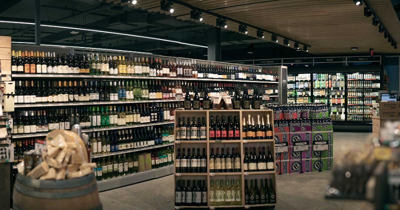 wine section