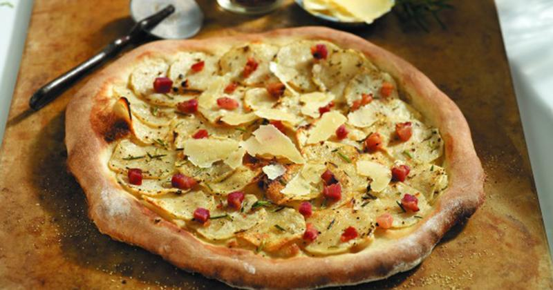 Sophia Pizza With Potatoes, Pancetta and Rosemary