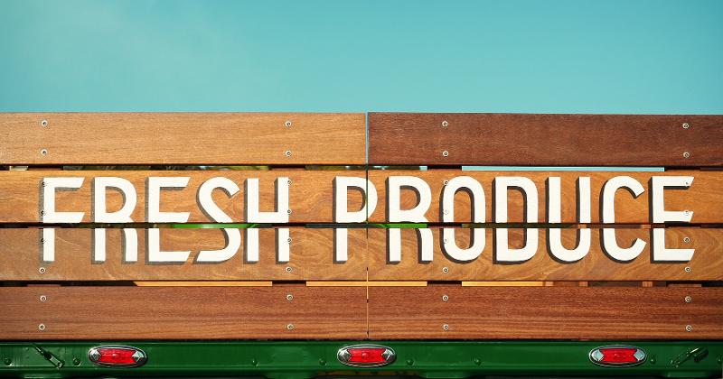 Food Trailer Truck Fresh Produce
