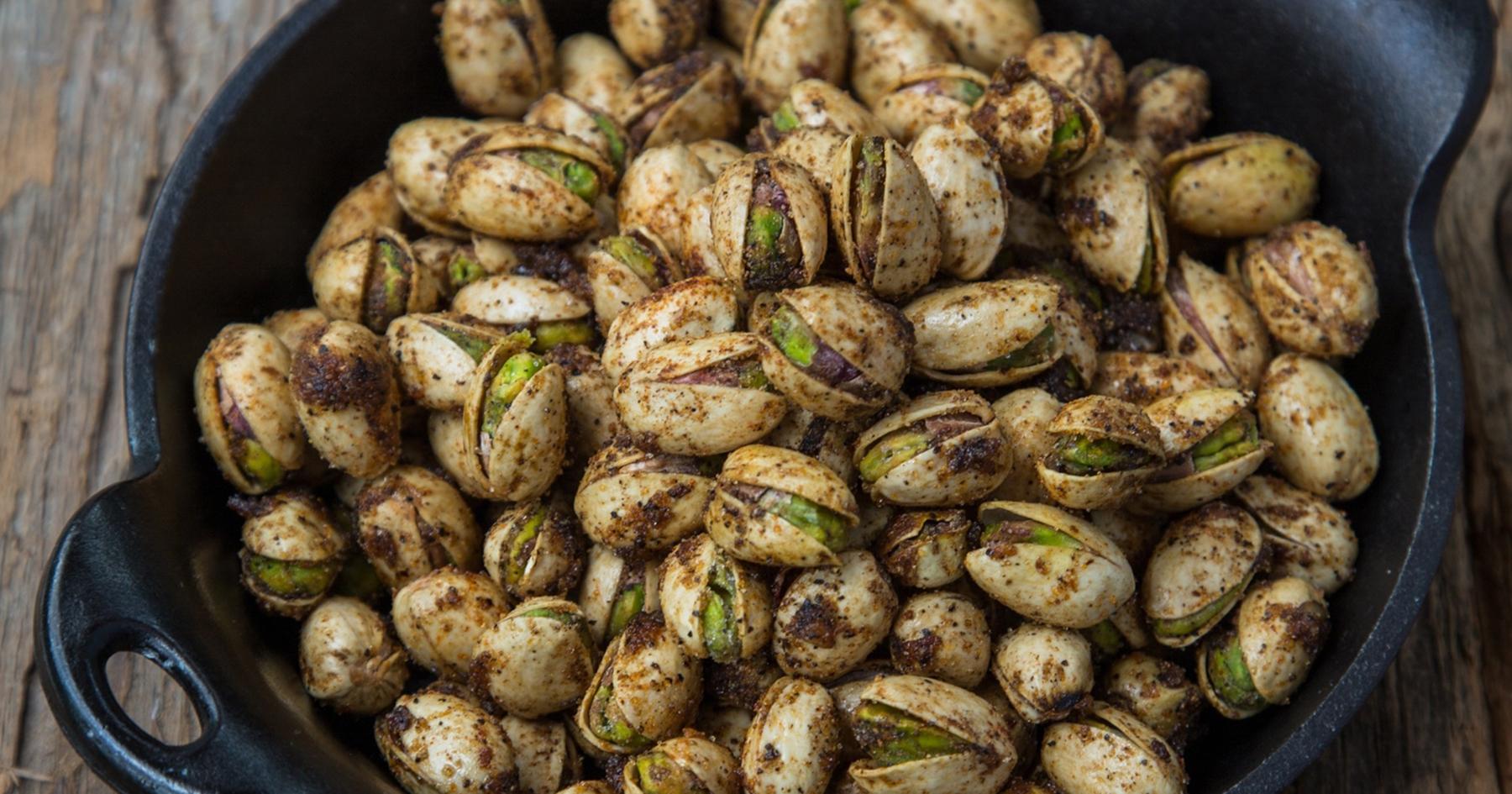 black skillet pistachios