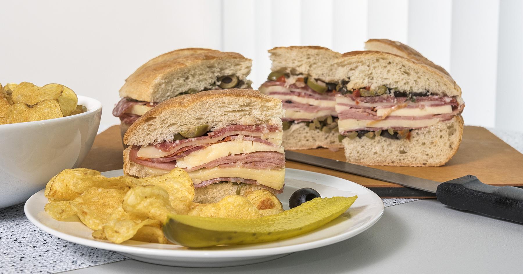 Muffuletta sandwiches