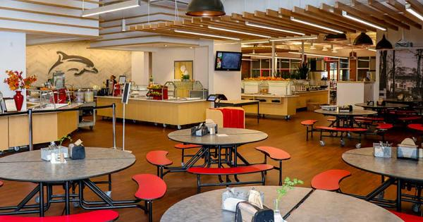 Take a peek at Cape Henry Collegiate\'s new modern cafeteria