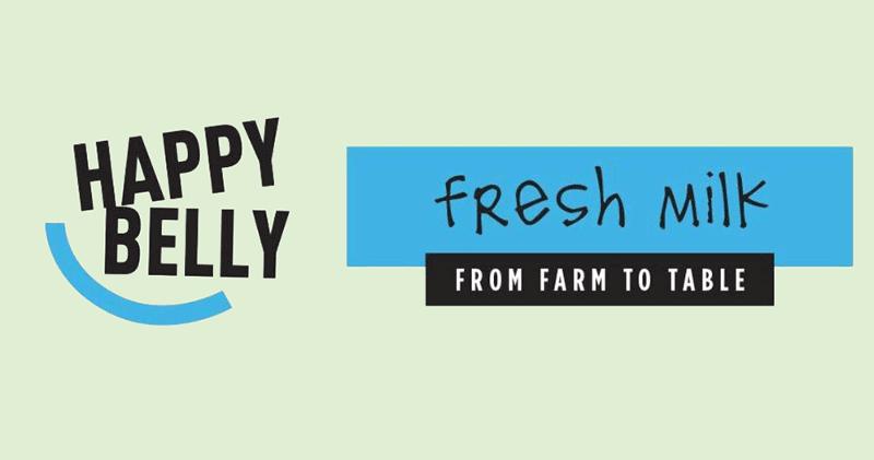 Amazon Happy Belly Milk logo