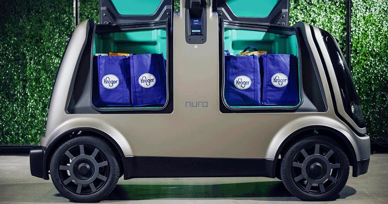 Nuro autonomous grocery delivery vehicle