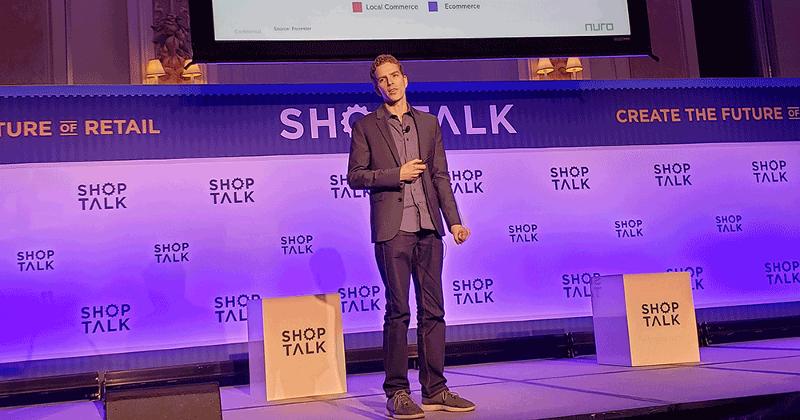 Shoptalk speaker onstage