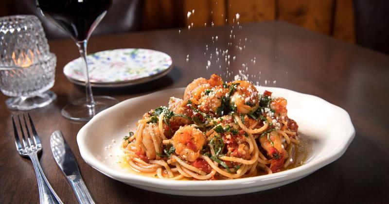 shrimp and pasta arrabbiata