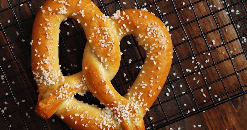 salted pretzel