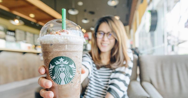 Starbucks closeup