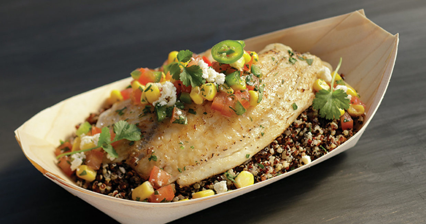 spicy tilapia quinoa bowl