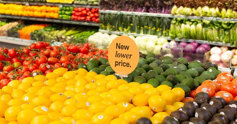 Lower priced produce