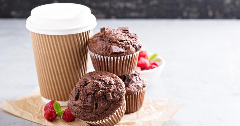 coffee chocolate muffins