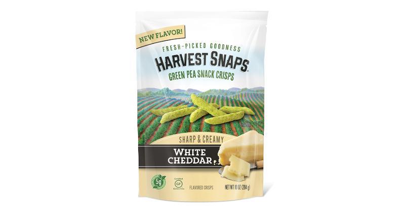 White Cheddar Green Pea Snack Crisps