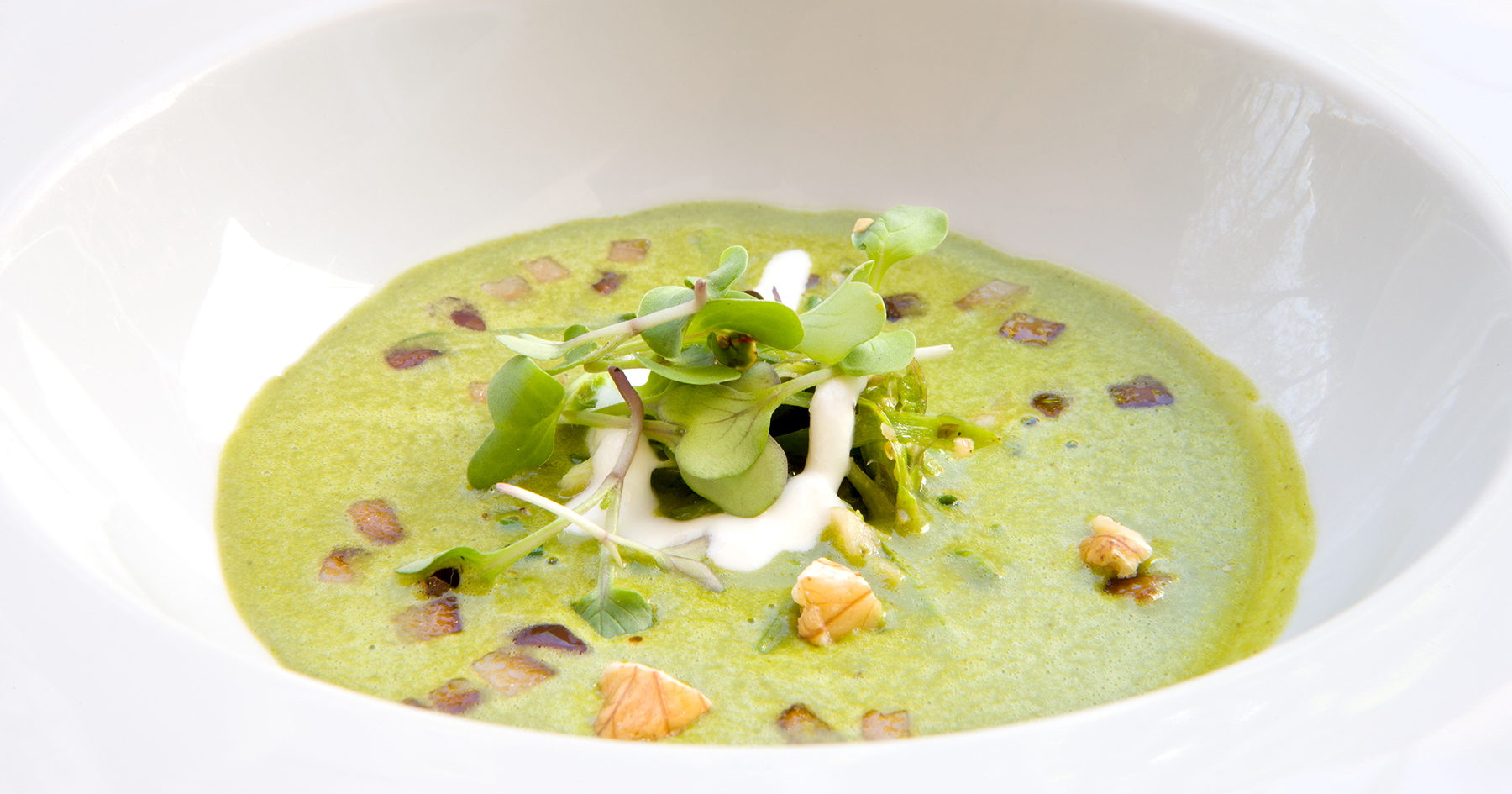 Asparagus walnut bisque