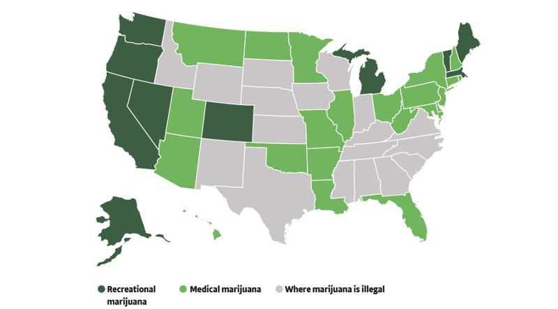 cannabis U.S. map