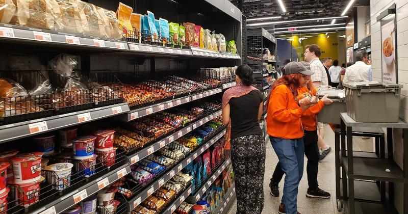 Amazon Go store shelf