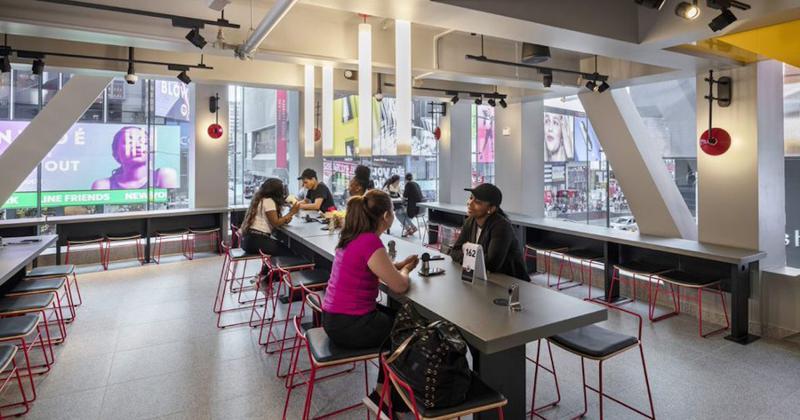 busy McDonald's NY location